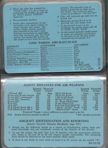 CODE WORDS AIRCRAFT SAFETY DISTANCES detail 2