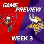 Tampa Bay Buccaneers vs. Minnesota Vikings | Week 3 Game Preview | NFL Playbook #スポーツニュース #followme