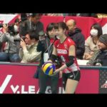 女子バレーボール サーブスピード測定 #スポーツニュース #followme