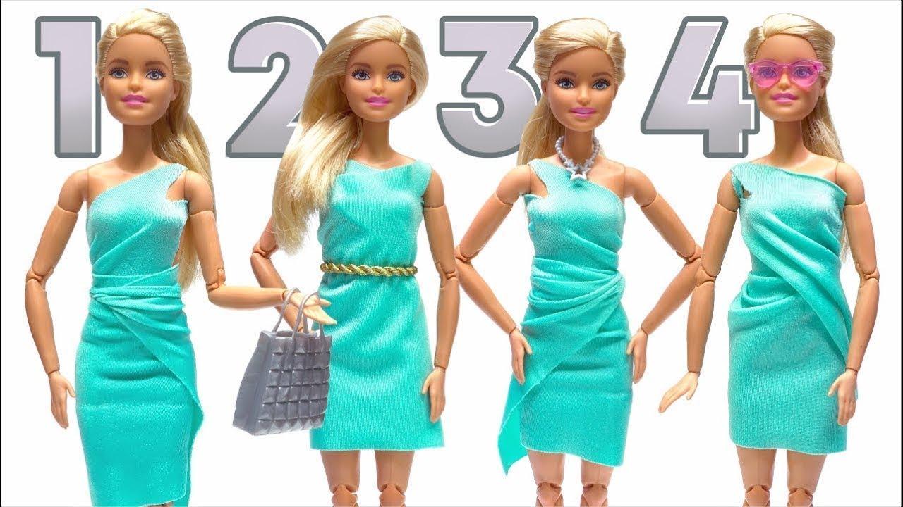 バービーの服を作ろう!縫わない、接着剤も使わない人形の服👗😍 #ディズニー #Disney #followme