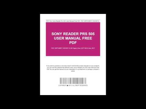 Sony Reader Prs 505 User Manual Free #ピコ太郎 #PPAP #followme