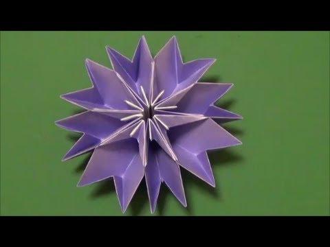 """花「クレマチス」折り紙""""Clematis""""flower origami #トレンド #followme"""