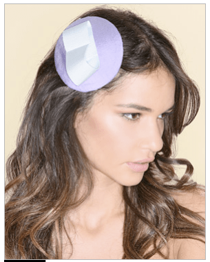 Johhny Loves Rosie Exclusive to Asos Lilac and Blue Heart Fascinator
