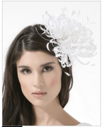 Philip Treacy Neutral Blossom Fascinator