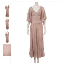100 Multi Godet Maxi Dress