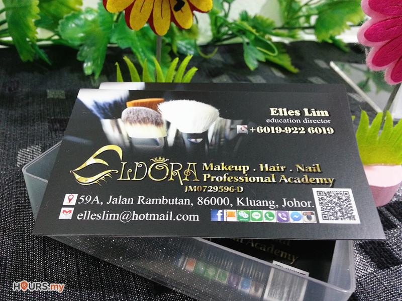 Eldora_Make_up_Hair_Nail_Professional_Academy_Name_CArd