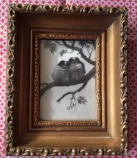 Henri Verstijnen, two birds framed