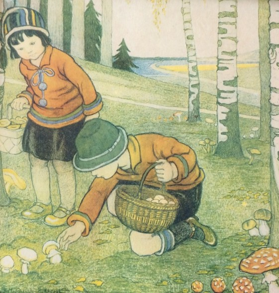 Mushroom pickers by B. Midderigh Bokhorst