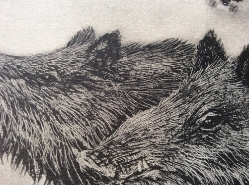 Wild Boars by Henri Verstijnen close up