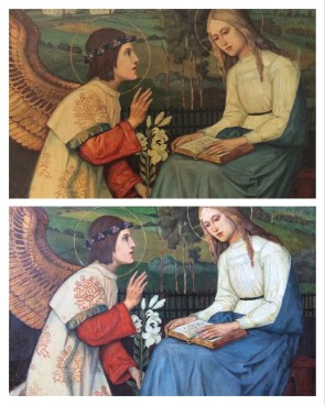 before and after cleaning this oil painting