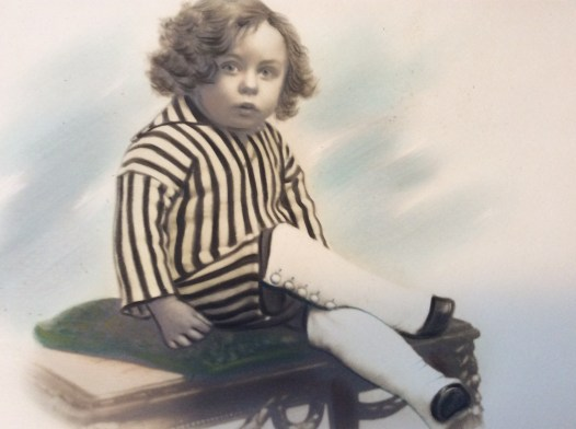 Photographic pastel drawing of a boy, ca. 1880.