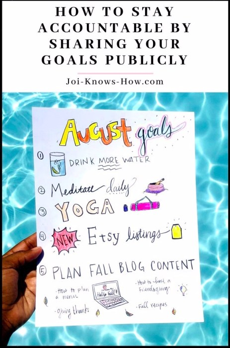 How to Stay Accountable by Sharing Your Goals Publicly | + My Goals for August | Joi-Knows-How.com