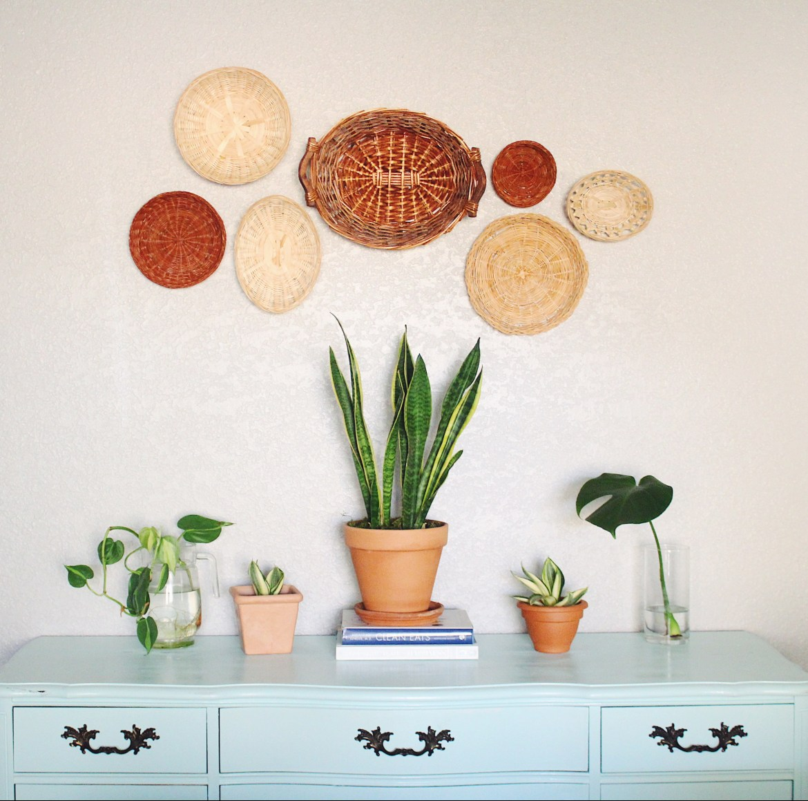 A step by step guide for creating your own bohemian basket wall décor