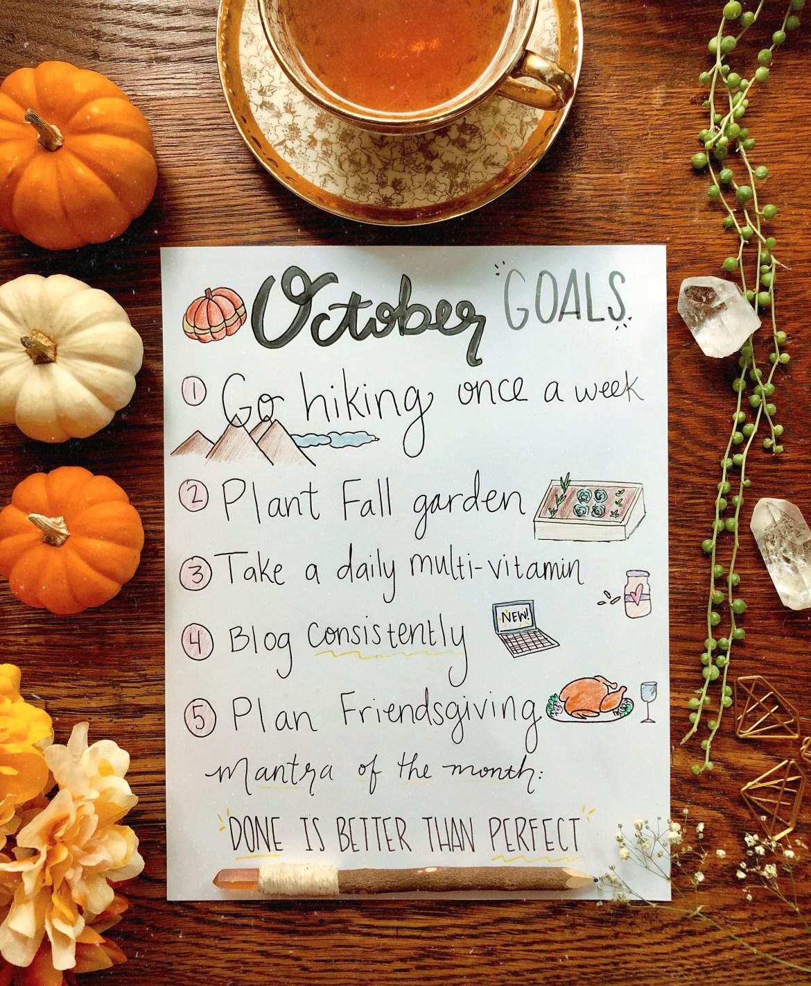 October Goals List | Joi-Knows-How.com