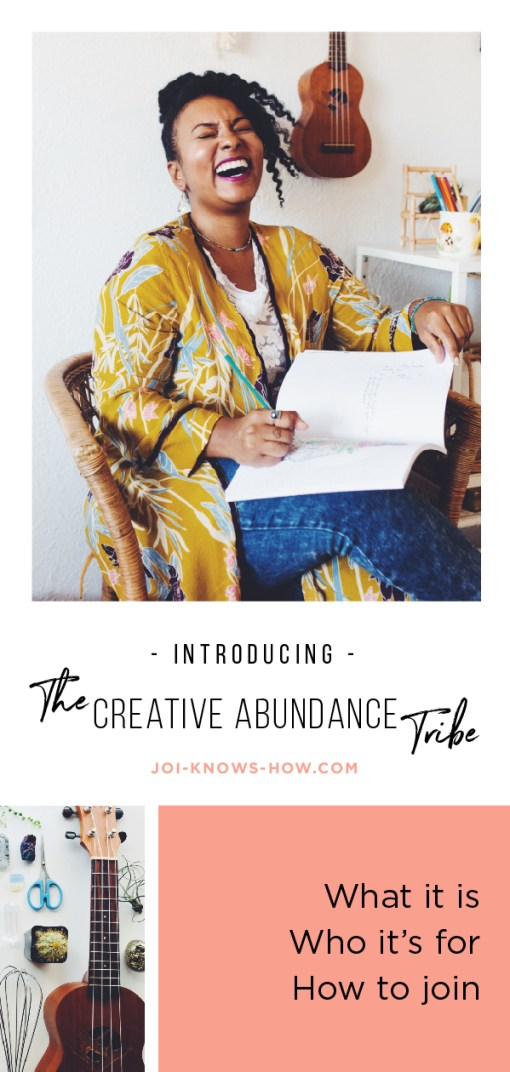Introducing THE CREATIVE ABUNDANCE TRIBE! What it is, who it's for, how to join.