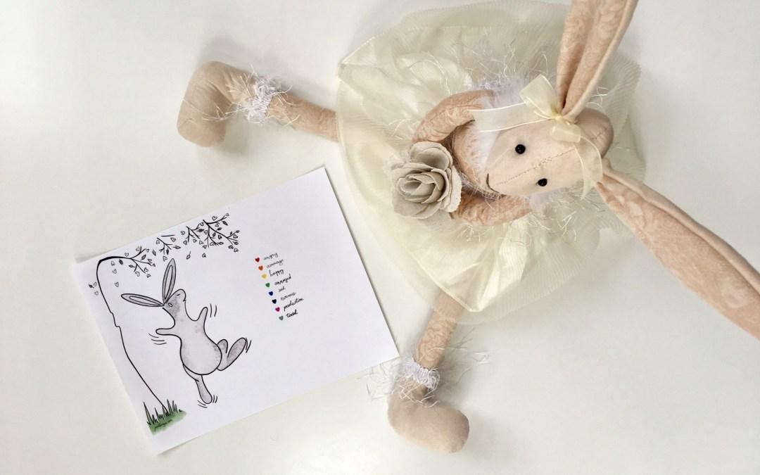 Printable bunny mood tracker