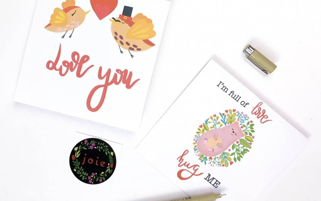 FREE Printable Greeting Cards for Valentine's DAY