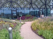 Path of the garden on the balcony of the Library of Birmingham