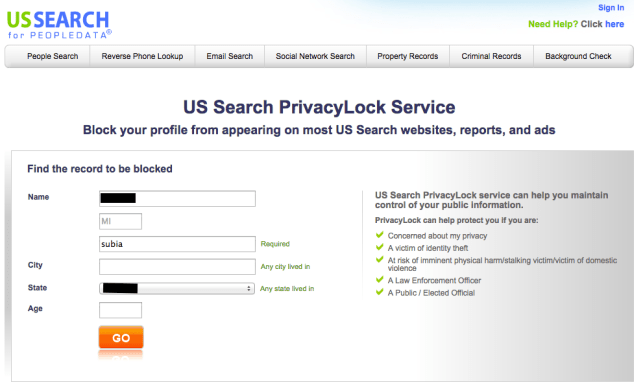 remove yourself from background check gateway us search opt out removal