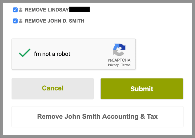Remove Yourself from AllBiz opt out removal