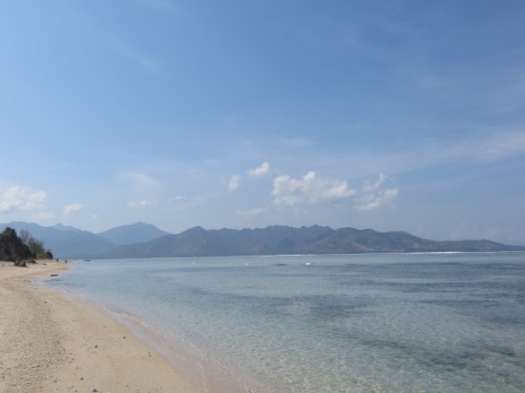 View of Lombok from Gili Air