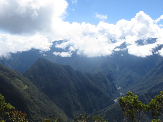 Machu Picchu is behind these mountains!