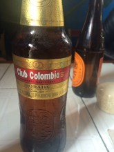 Our first taste of Club Colombia