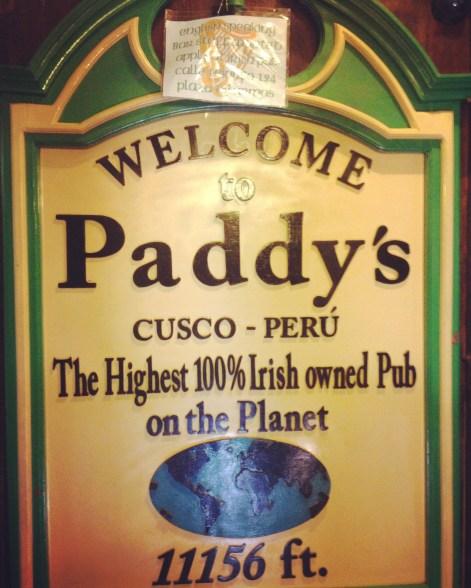 Paddy's cusco