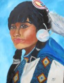 Navajo girl by Sherry Joiner