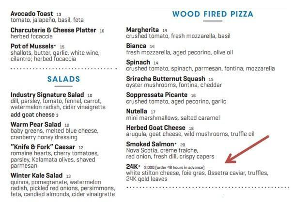 24K - самая дорогая пицца в мире