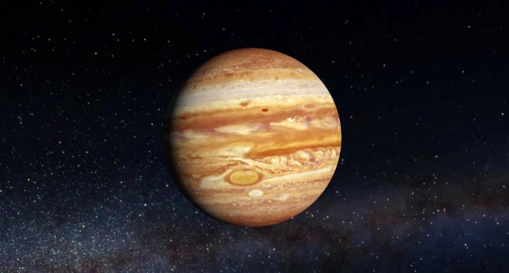 Юпитер - Самая большая планета Солнечной системы.