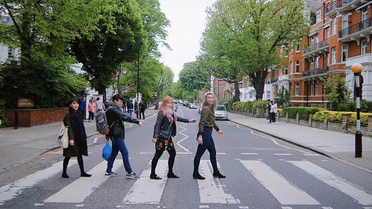 London's famous Abbey road for the Beatles.