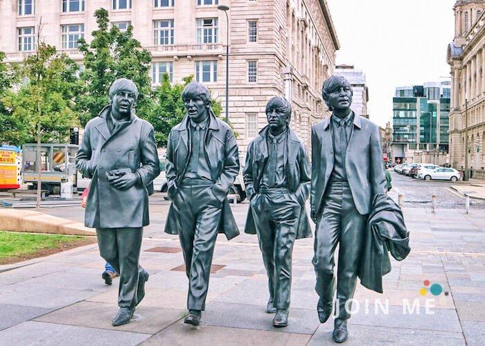 利物浦Liverpool:利物浦博物館外的披頭四雕像(the Beatles statues)