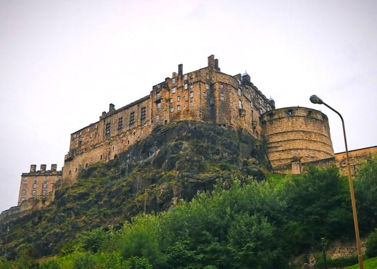 Edinburgh: Edinburgh Castle towers over the old volcano.