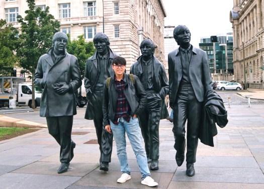 利物浦Liverpool:披头四铜像(the Beatles statues)