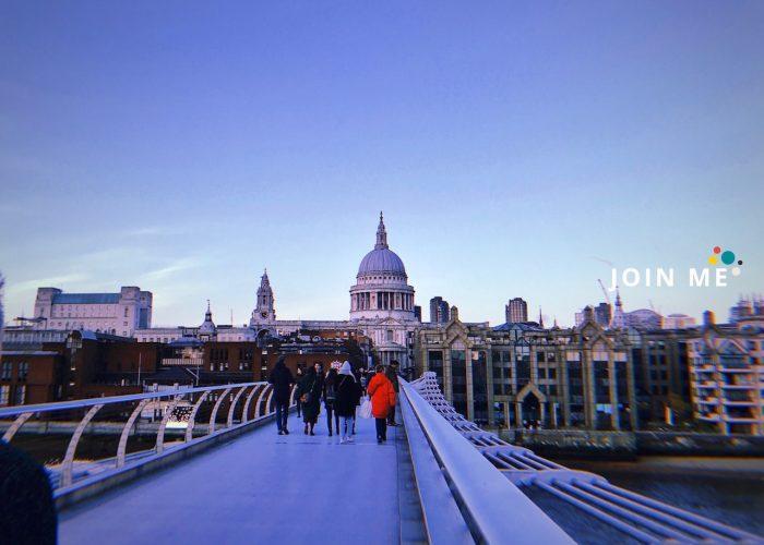 伦敦London:从千禧桥(Millennium Bridge)拍圣保罗大教堂(St Paul's Cathedral)
