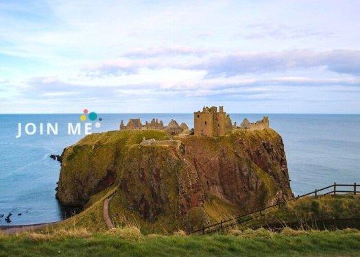 苏格兰亚伯丁郡Aberdeenshire:邓诺特城堡(Dunnottar Castle)