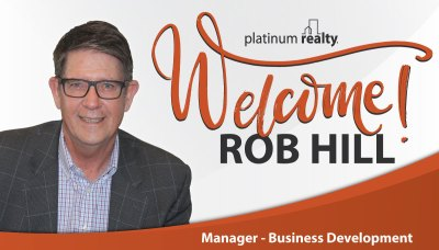 Please welcome Rob Hill to Platinum Realty!