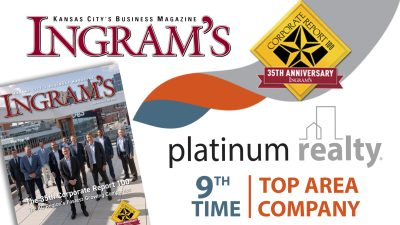 Platinum Realty ranked one of the regions top companies for the 9th time!