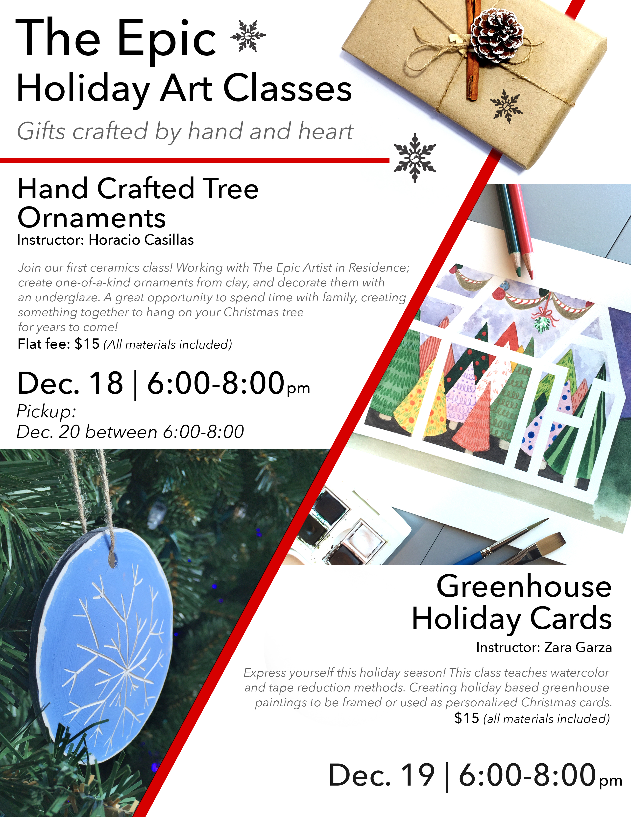 Holiday Art Classes At The Epic Join The Epic