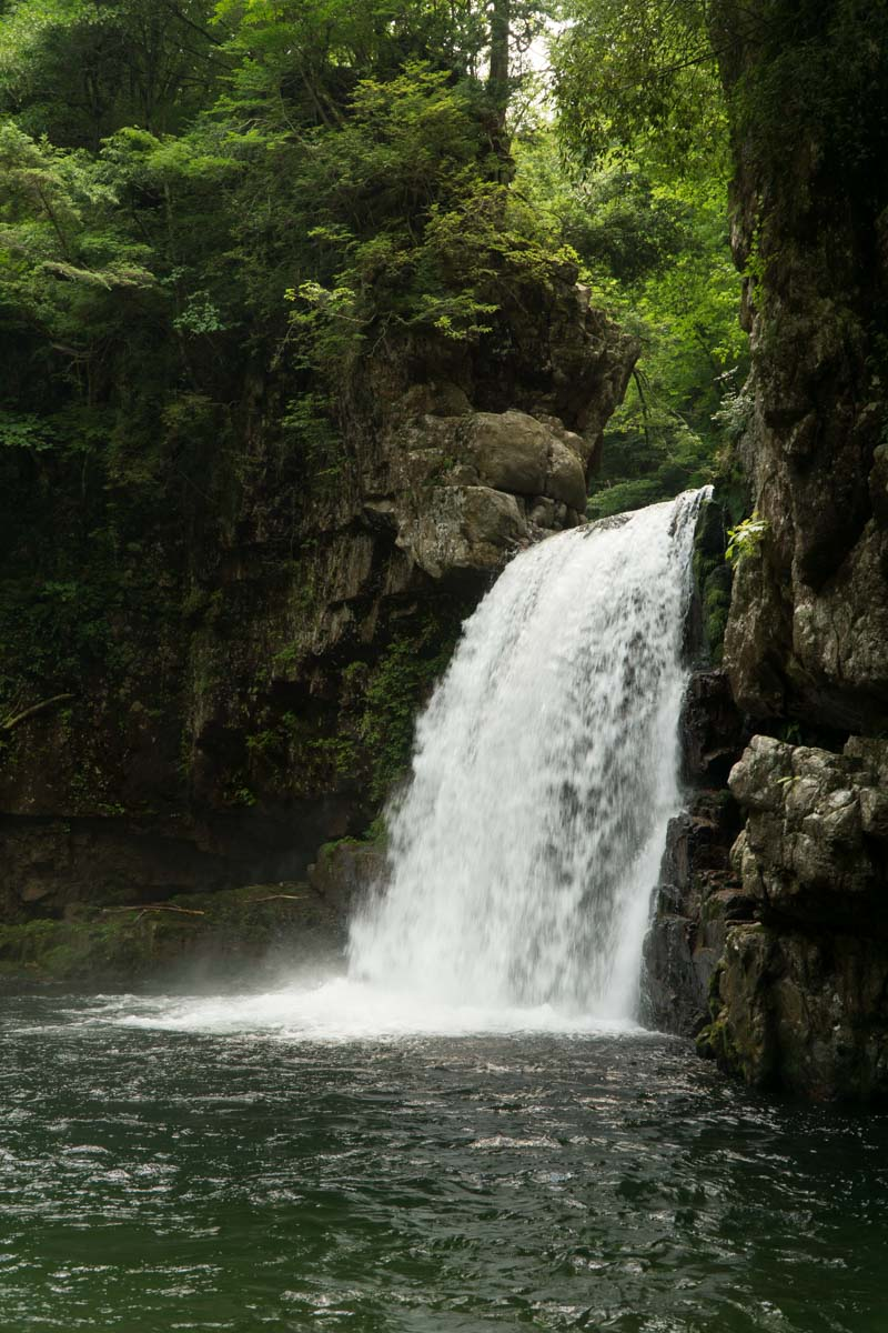 Sandankyo summer waterfall