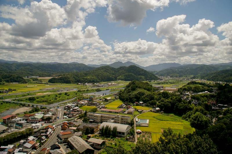 View from Kawahara Castle