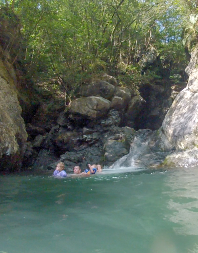Three Falls family swimming