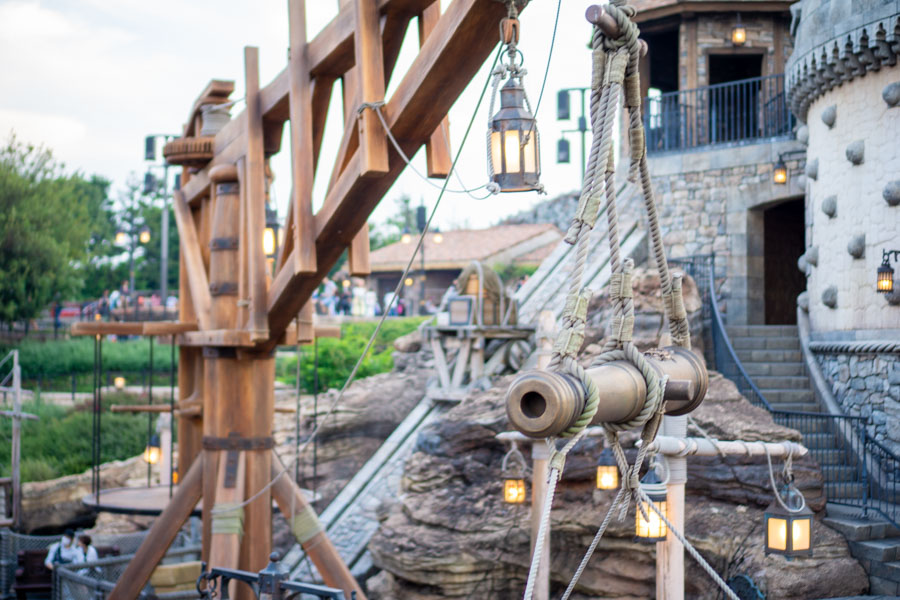 Disneysea fortress cannons