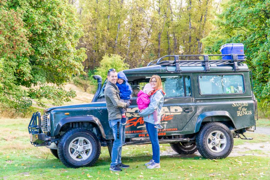 Nomad Safaris Family in Macetown with defender