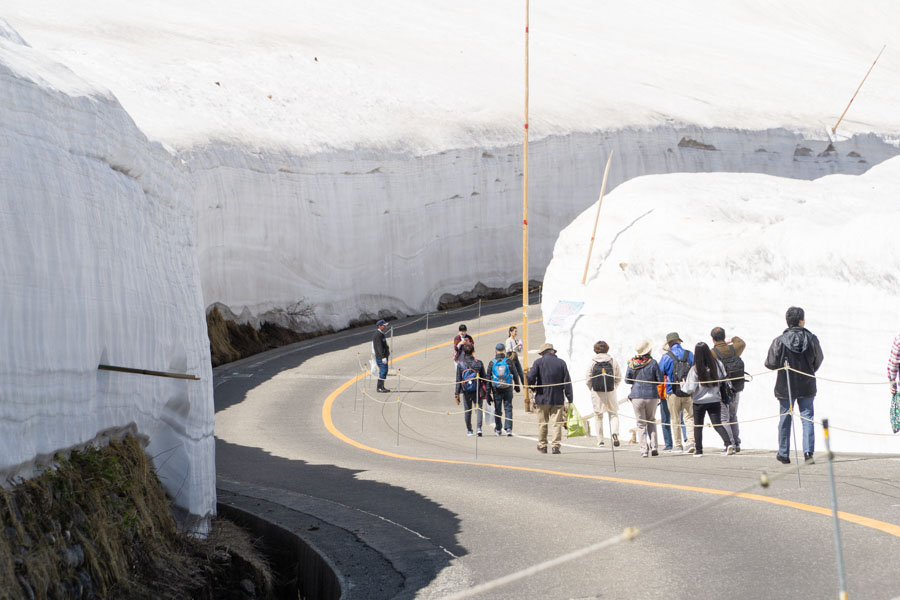 Tateyama Kurobe Alpine Route walking in the snow