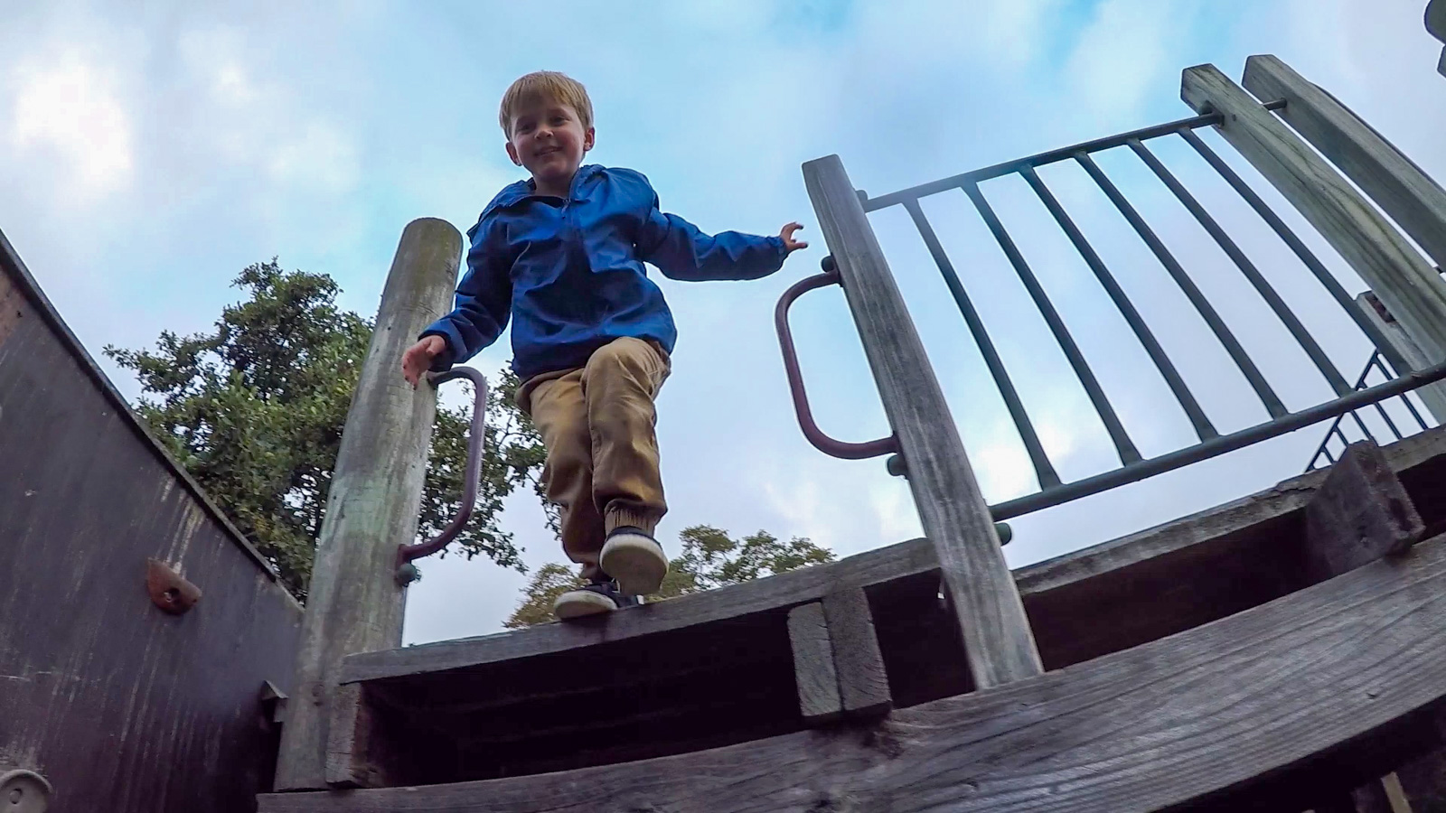 Christchurch boy jumping at park