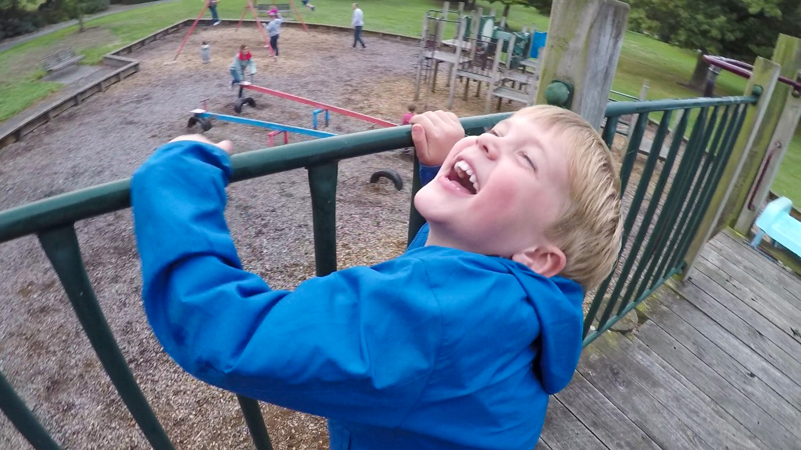 Christchurch happy boy on playground