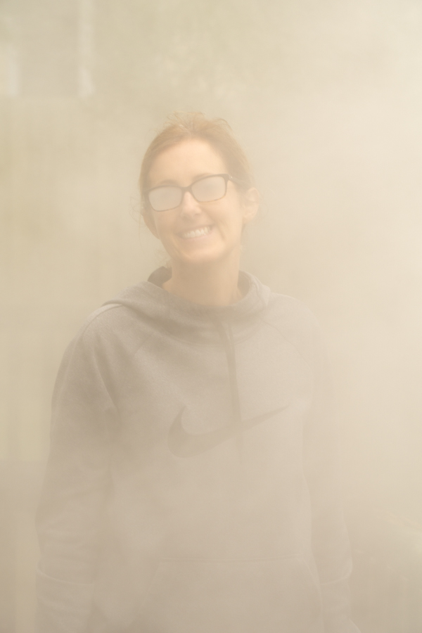 Rotorua woman in steam