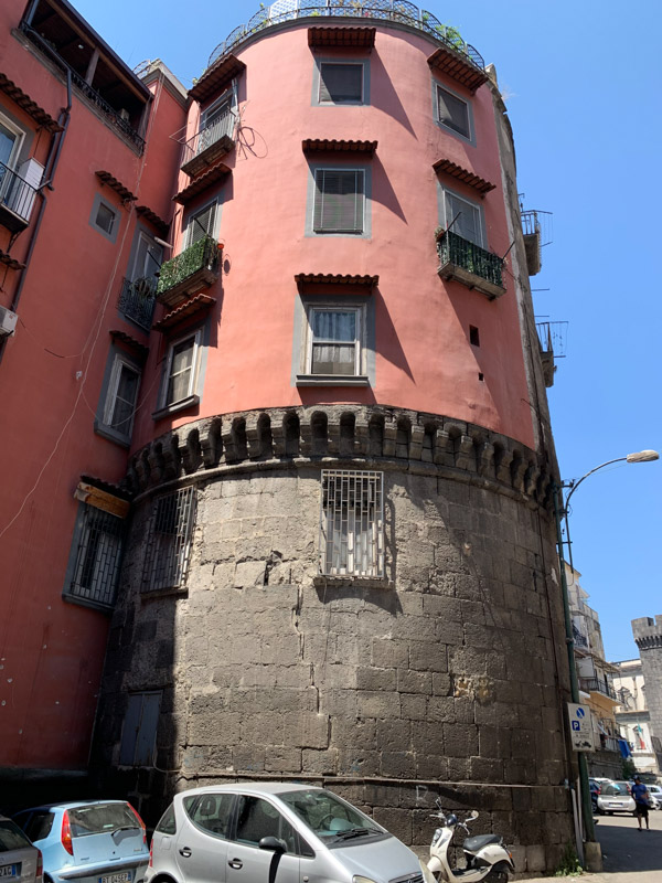 Naples Underground apartments built on castle